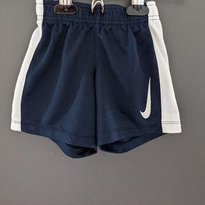 Nike blue & white athletic shorts